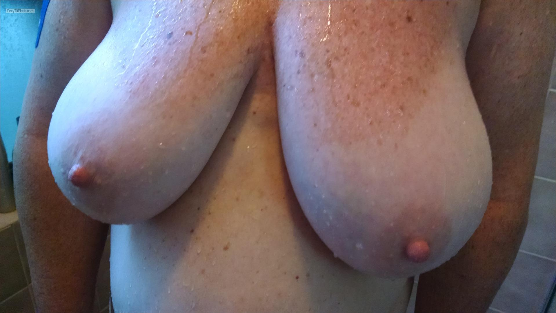 Tit Flash: My Tanlined Very Big Tits - Katherine from United States